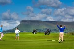 The ninth green in County Sligo