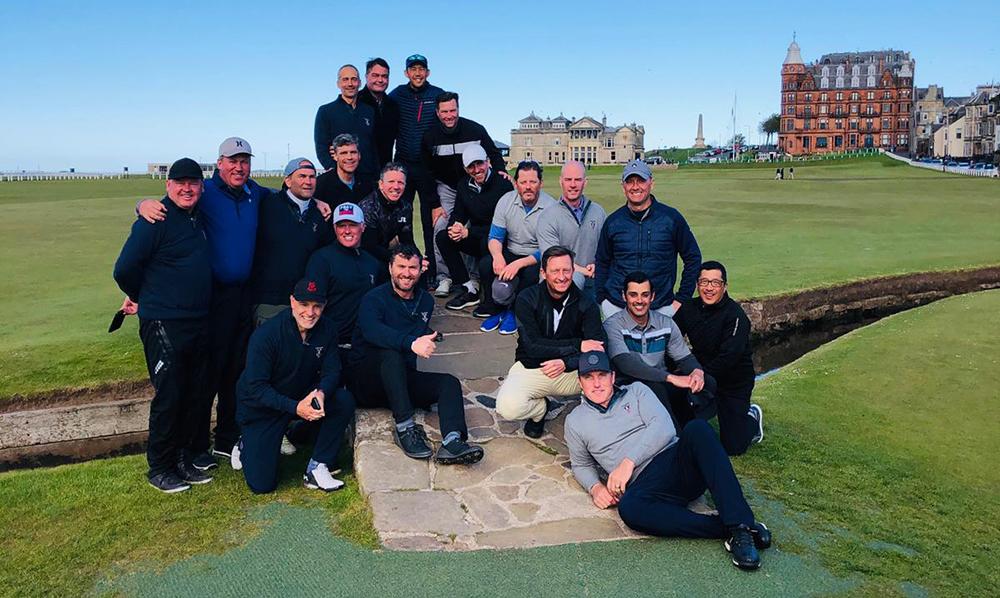 Clients enjoying St Andrews